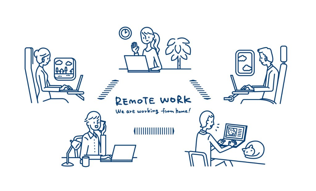 remote-work-vector-id1209100591